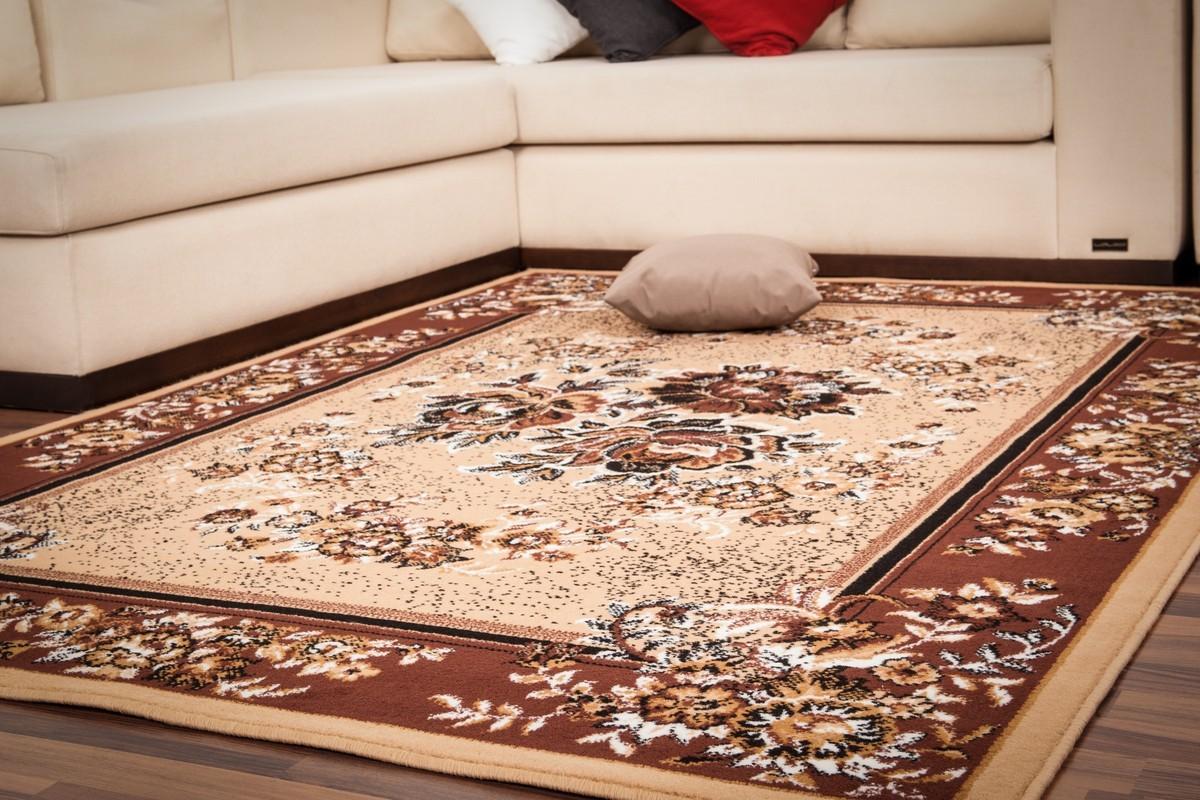 tapis classique oriental coloris beige vif asso. Black Bedroom Furniture Sets. Home Design Ideas