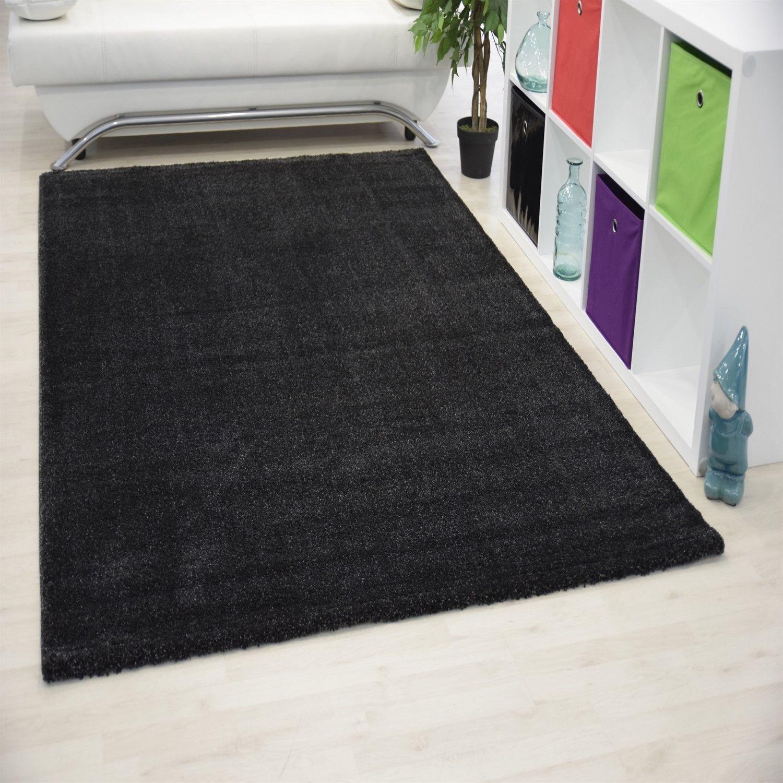 tapis d 39 int rieur uni noir alvin pas cher. Black Bedroom Furniture Sets. Home Design Ideas