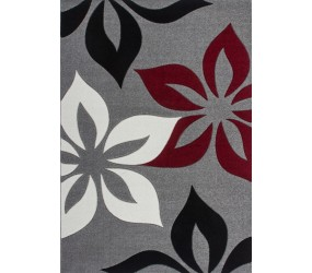 Tapis effet 3D design moderne floral coloris rouge tapis pour salon, tapis salon design, tapis pour salon pas cher, tapis moderne salon, tapis de salon design, grand tapis salon, tapis salon moderne, tapis design