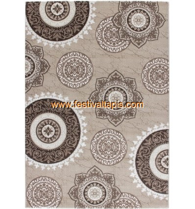 Tapis pas cher beige, tapis moderne beige, tapis marron beige, tapis salon beige
