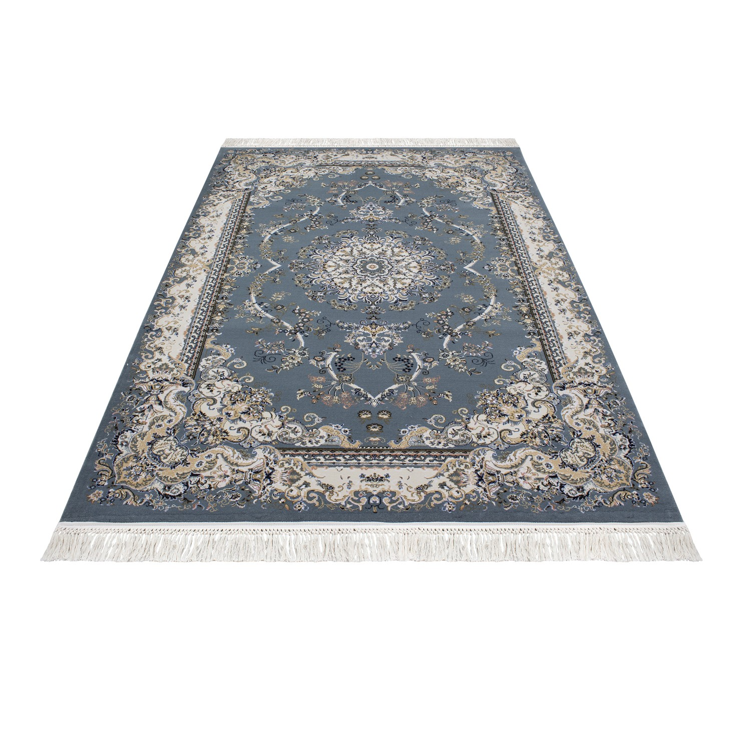 tapis courtes m che orientaux blue kairouan 2 pas cher. Black Bedroom Furniture Sets. Home Design Ideas