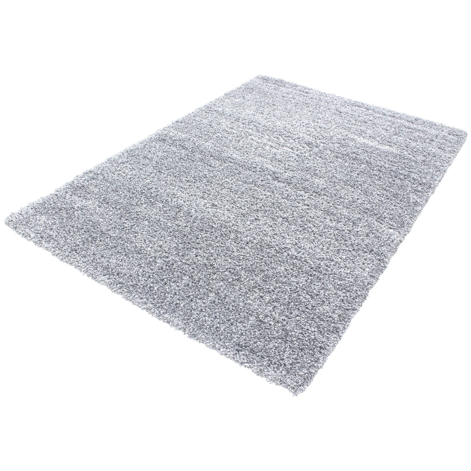 tapis shaggy gris clair moderne tapis design uni en polypropyl ne vasco. Black Bedroom Furniture Sets. Home Design Ideas