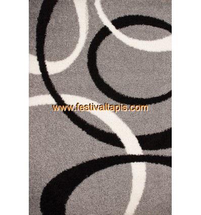 Tapis Shaggy avec motif coloris gris tapis en laine, tapis laine pas cher, tapis laine moderne, tapis en laine pas cher, tapis de laine, tapis laine design, tapis laine soldes