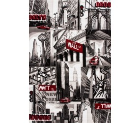 "Tapis heatset design ""New York"" coloris gris tapis salon, tapis de salon, tapis salon pas cher, tapis de salon pas cher, tapis pour salon, tapis salon design, tapis pour salon pas cher, tapis moderne salon"
