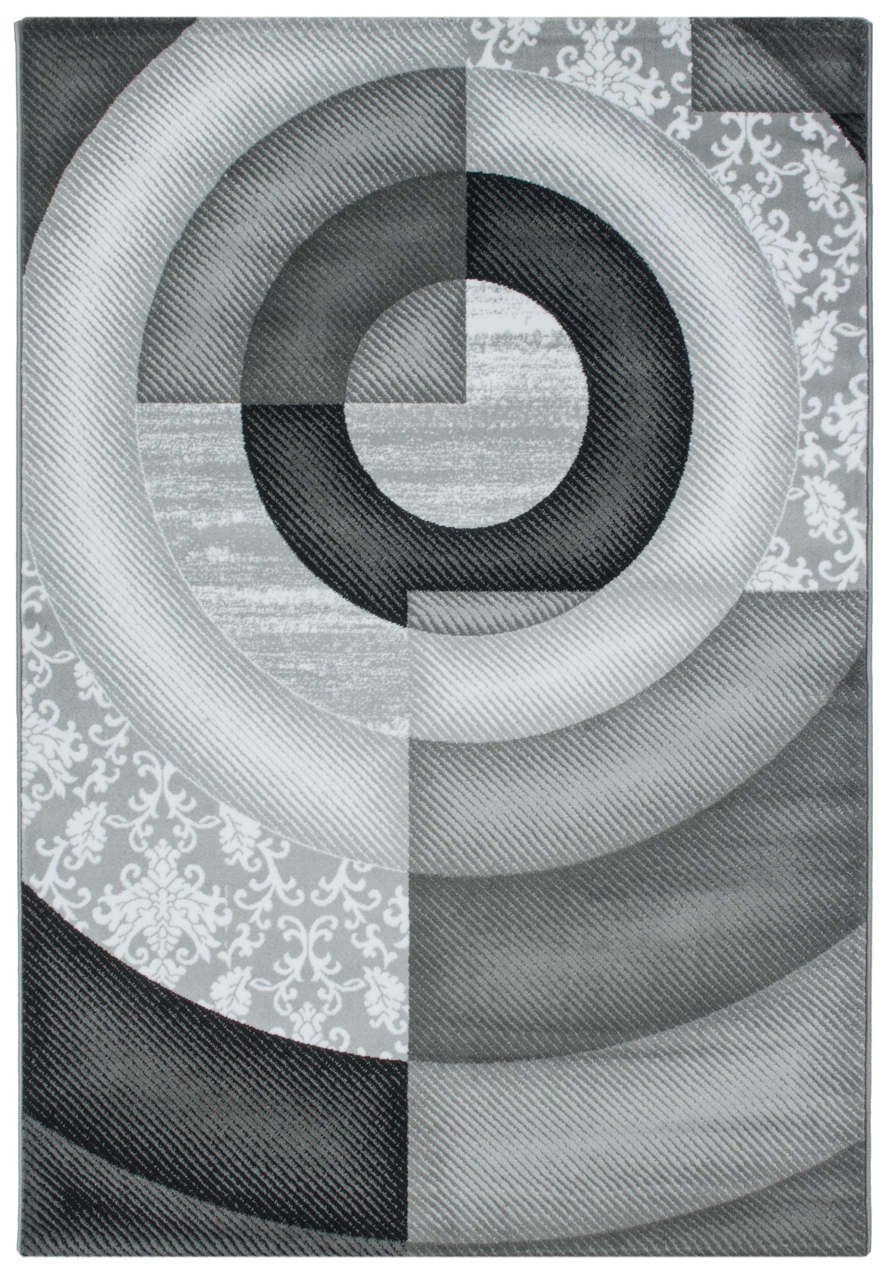 Tapis de salon design rectangulaire courtes m ches gris for Tapis salon gris design