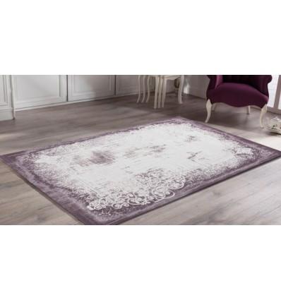 Tapis design vintage en acrylique soft lila-violette UNIQUE-2 pas cher