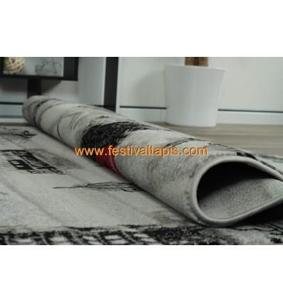 Tapis gris clair pas cher, grand tapis gris, tapis design gris, tapis gris rouge, tapis noir et gris pas cher, tapis gri