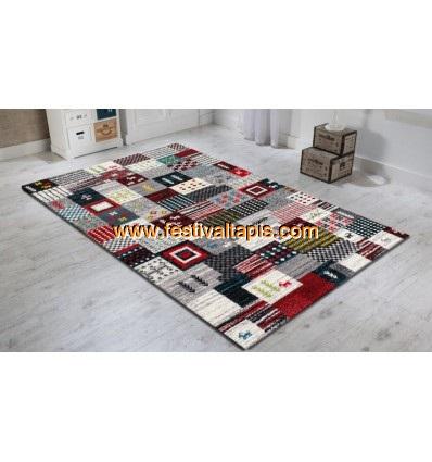 Tapis salon rouge ,tapis de salon moderne grand ,tapis de salon ,tapis de salon rouge