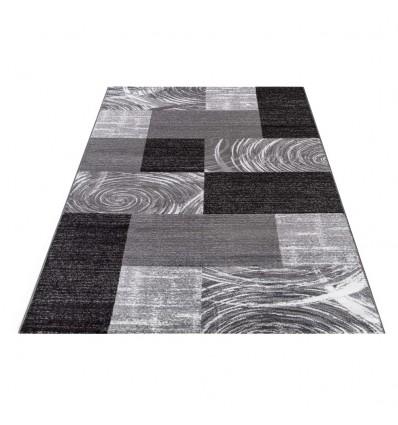 tapis de salon noir, tapis pas cher noir, tapis noire, tapis rouge noir