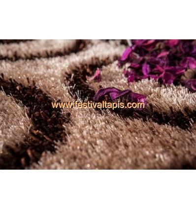 Tapis Shaggy parsémé de lurex coloris brun ,tapis moderne, tapis moderne pas cher, tapis modernes, tapis moderne design, les tapis moderne, tapis moderne gris, tapis moderne rouge, tapis moderne design pas cher, tapis rouge et gris moderne