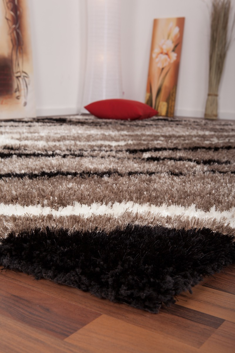 tapis shaggy design motif beige tr s doux nobel. Black Bedroom Furniture Sets. Home Design Ideas