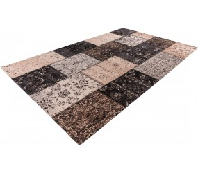 Tapis patchwork plat ethnique rectangle Pacino