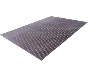 Tapis lavable en machine contemporain avec franges Branco