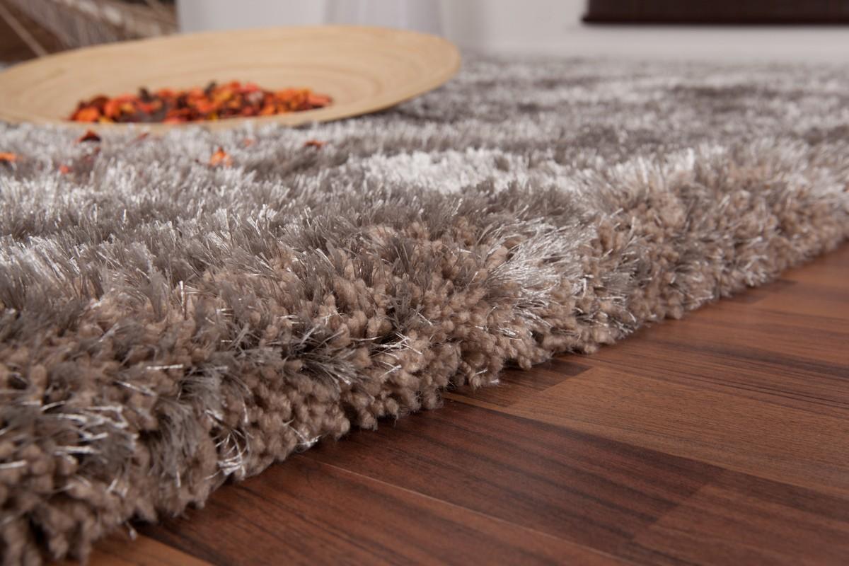 tapis shaggy fait coloris gris malibu