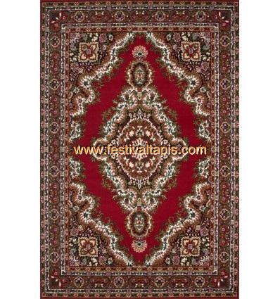 Tapis classique oriental coloris rouge vif ASSO